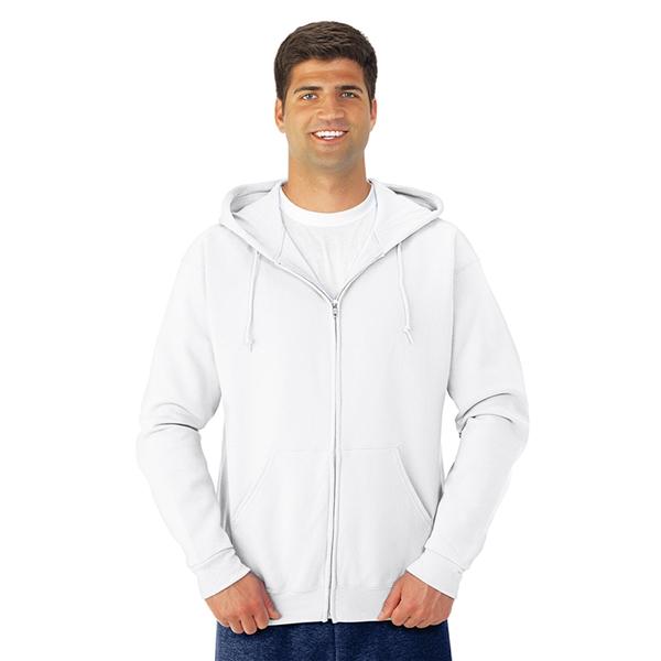 Jerzees®NuBlend®Full-Zip Hooded Sweatshirt - White