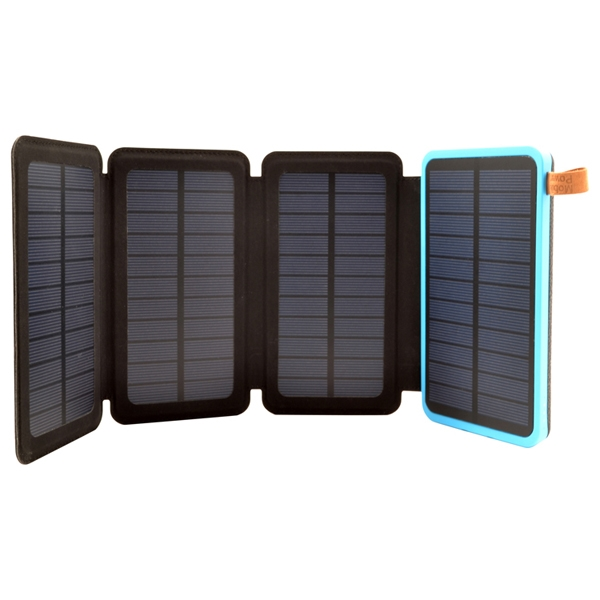 8000mAh 4 Solar Panel Power Bank with Torch