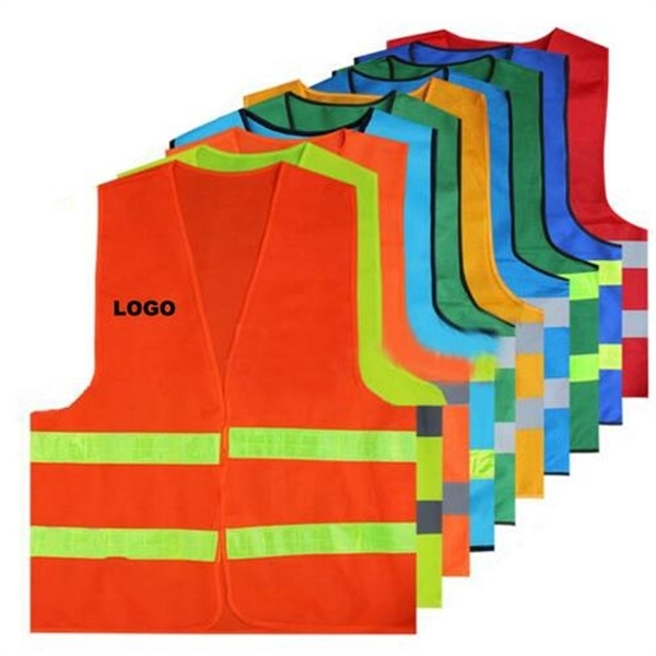 High Visibility Breathable Safety Polyester Reflective Vest