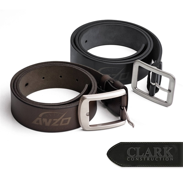 Branded Leather Belt (40 in  Long) - 40 inches Black or brown genuine leather belt.