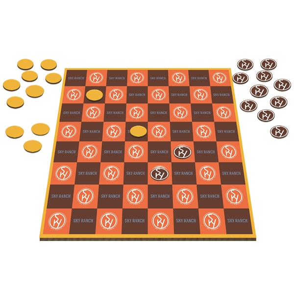 """Table Top Checkers Game - 12"""""""