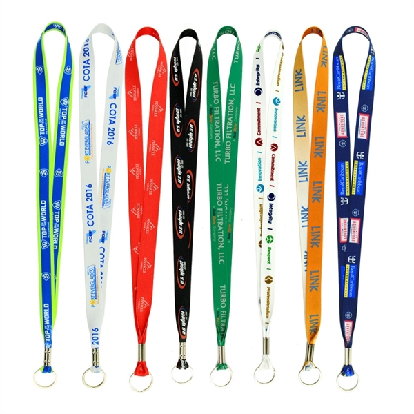 Full Color Imprint Smooth Dye Sublimation Lanyard  3/4
