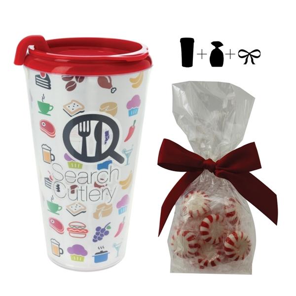 16 oz. Plastic Travel Mug with 4 Color I