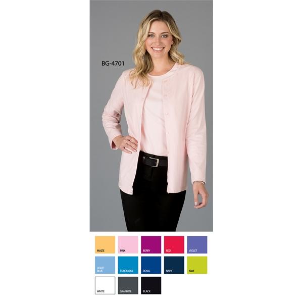 Ladies' L/S Button Front Cardigan