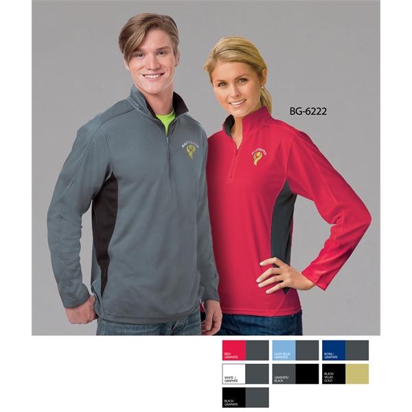 Ladies' L/S Colorblock Zip Pullover