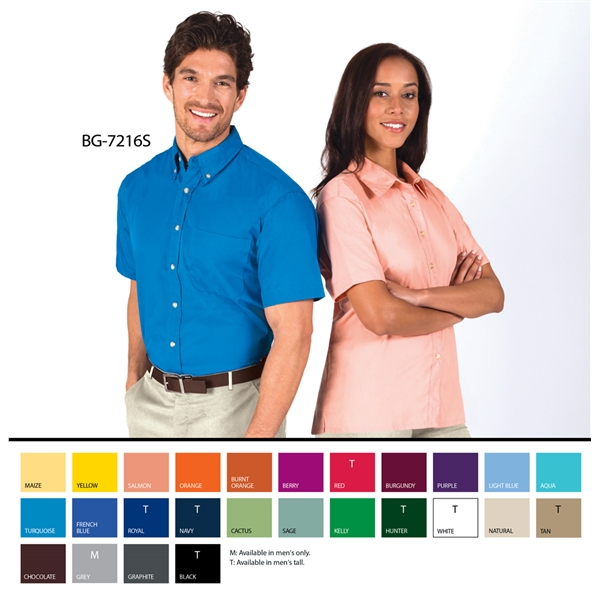 Men's S/S Superblend™ Shirt with Bone Buttons