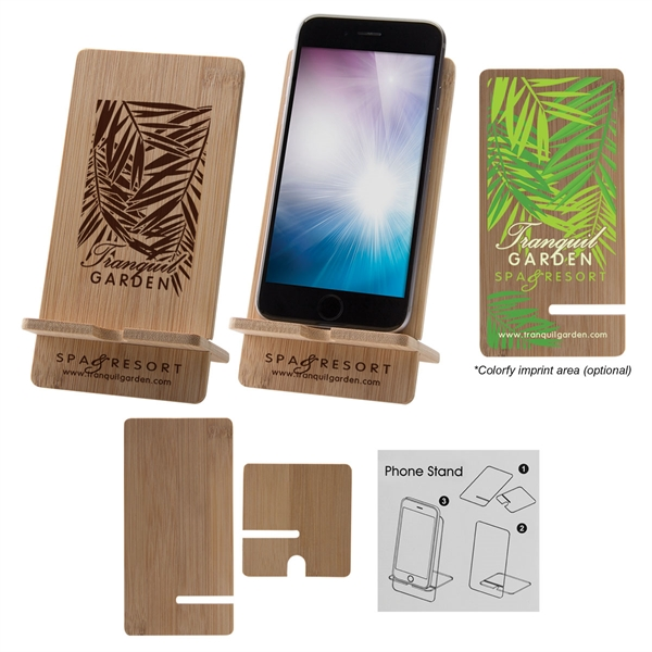 Bamboo Wood Cell Phone Stand