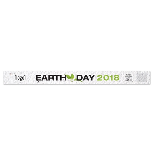 Earth Day Seed Paper Wristband
