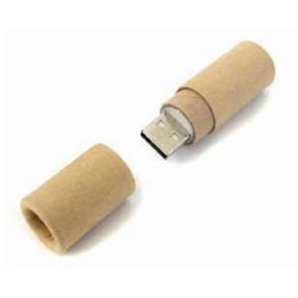 Eco Paper Round Flash Drive