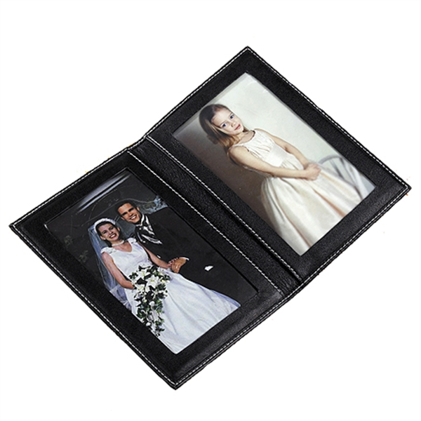 LEATHER FOLDING PICTURE FRAME