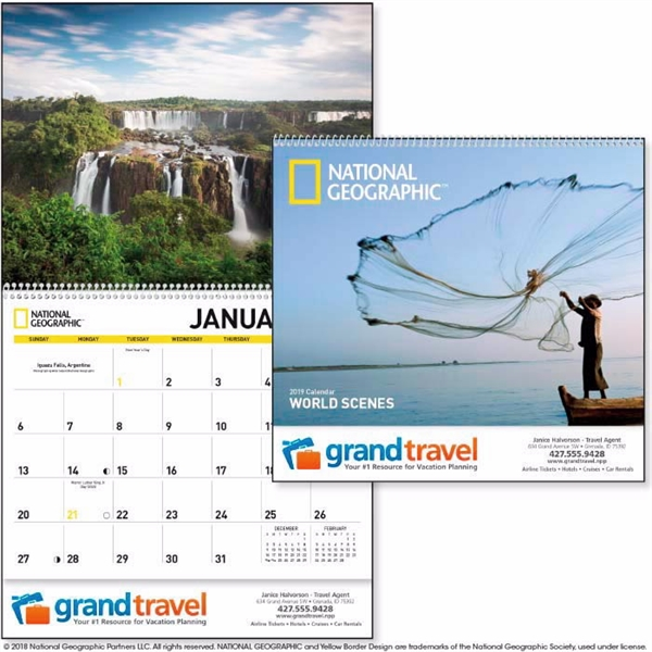 National Geographic World Scenes 2020 Calendar