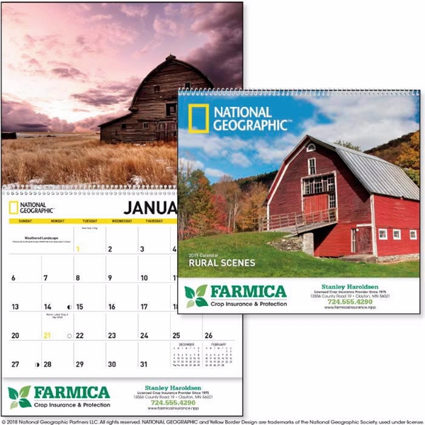 National Geographic Rural Scenes 2020 Calendar