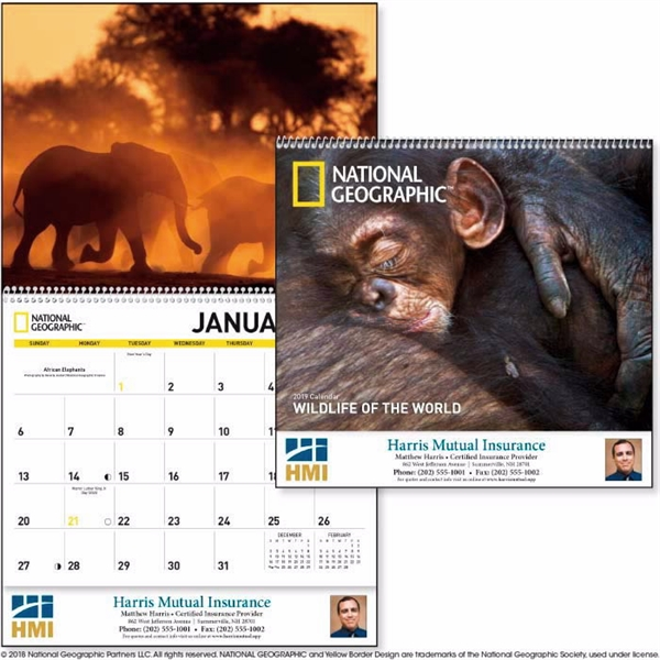 National Geographic Wildlife of the World 2020 Calendar