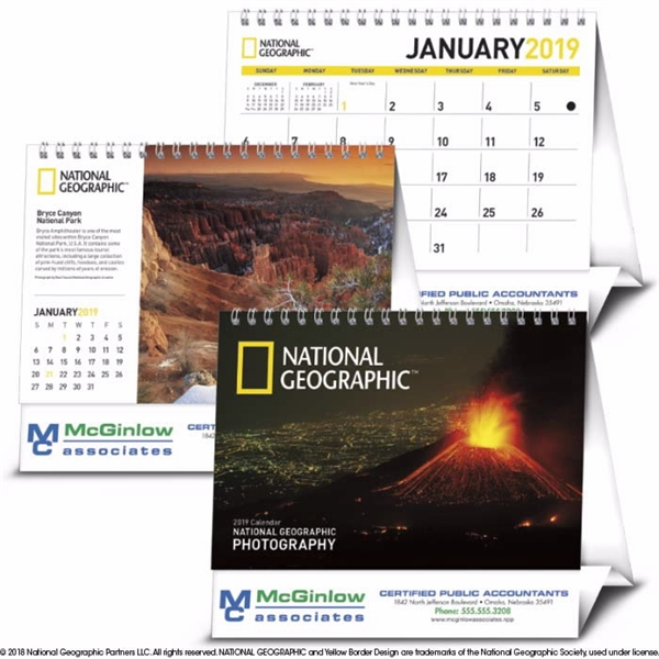 National Geographic Photography Large Desk 2020 Calendar