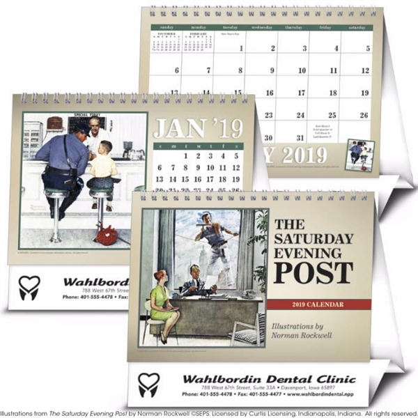 The Saturday Evening Post Large Desk 2020 Calendar
