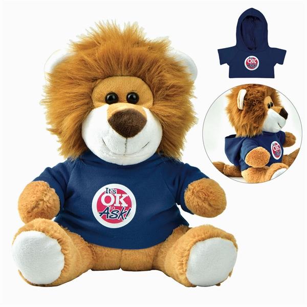 Plush Lion with Hoodie