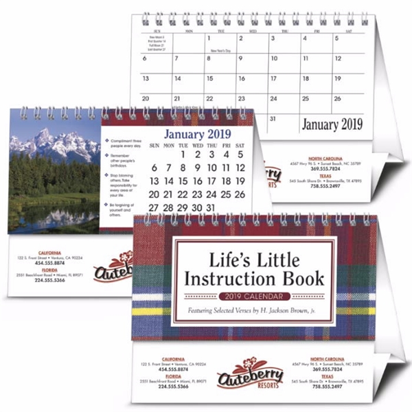 Life's Little Instruction Book Desk 2020 Calendar
