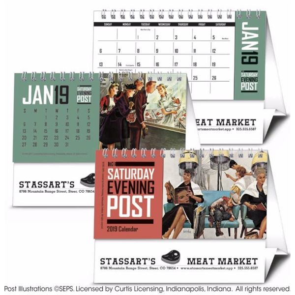 The Saturday Evening Post 2020 Desk Calendar