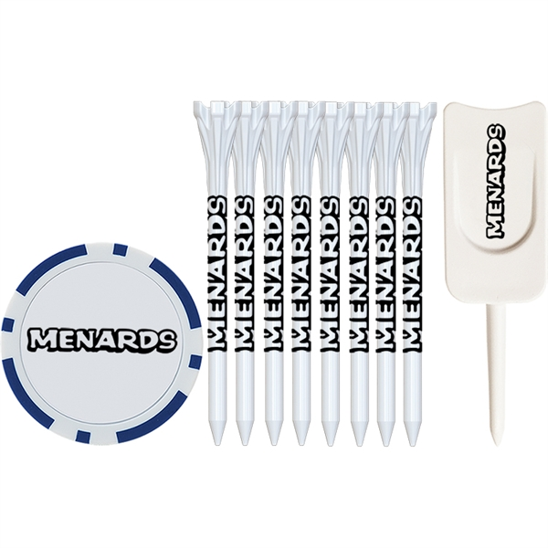 Tee Pack With Flytee Tees, Poker Chips And Single Prong