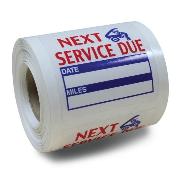 V-T™ Roll Stock Service Reminder Stickers