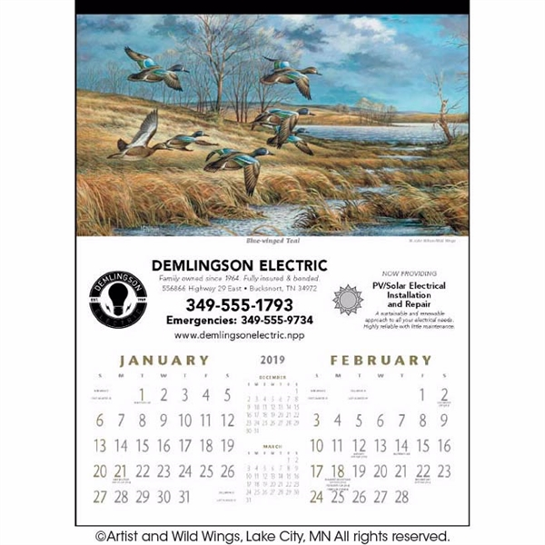 North American Waterfowl 2020 Calendar