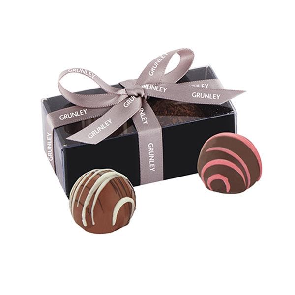 2 Piece Belgian Chocolate Truffle Box