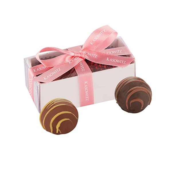 2 Piece Belgian Chocolate Truffle Box