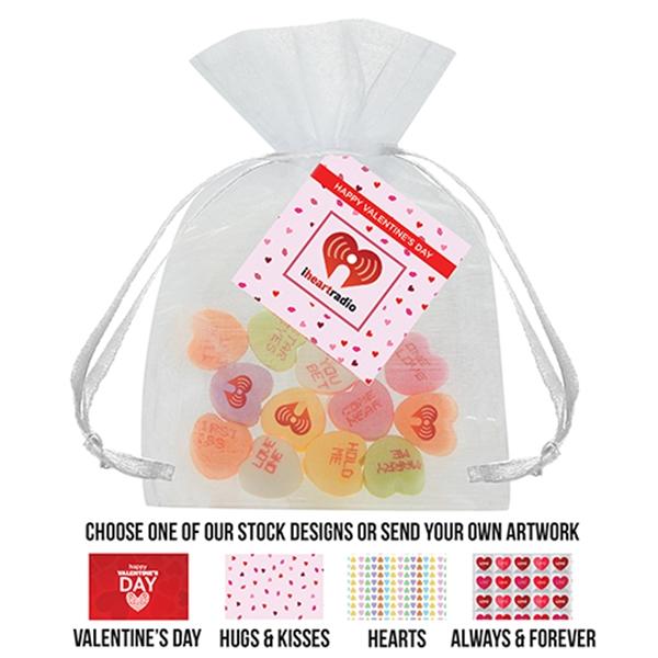 Conversation Heart Organza Bag Large