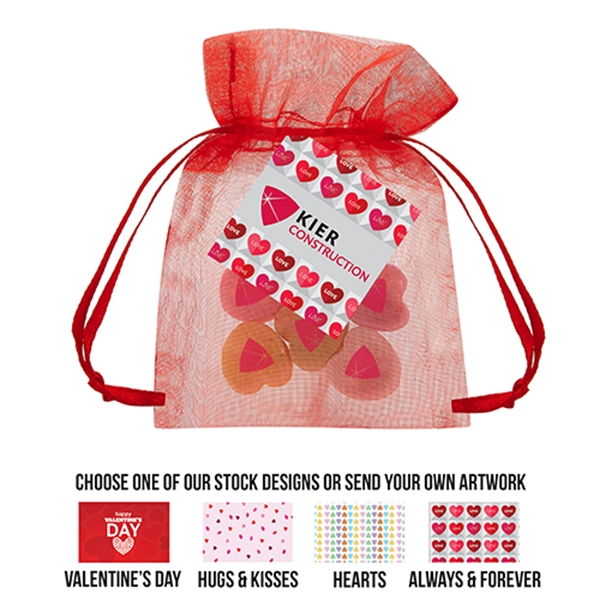 Conversation Heart Organza Bag Small
