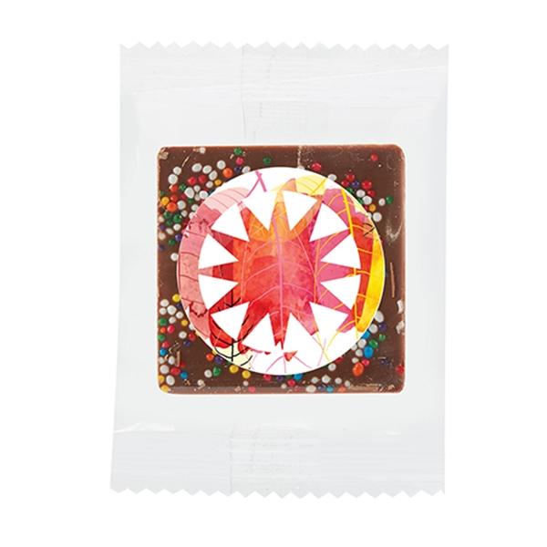 Bite Size Belgian Chocolate Squares - Rainbow Sprinkles