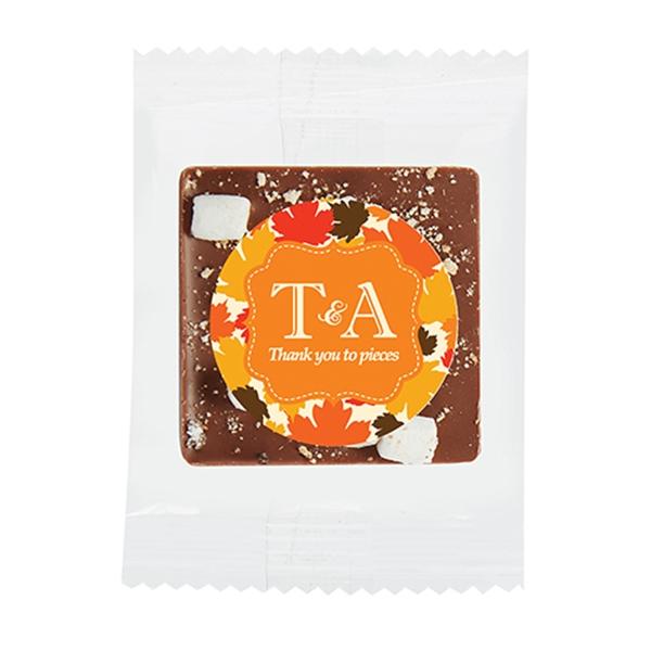 Bite Size Belgian Chocolate Squares - S'mores