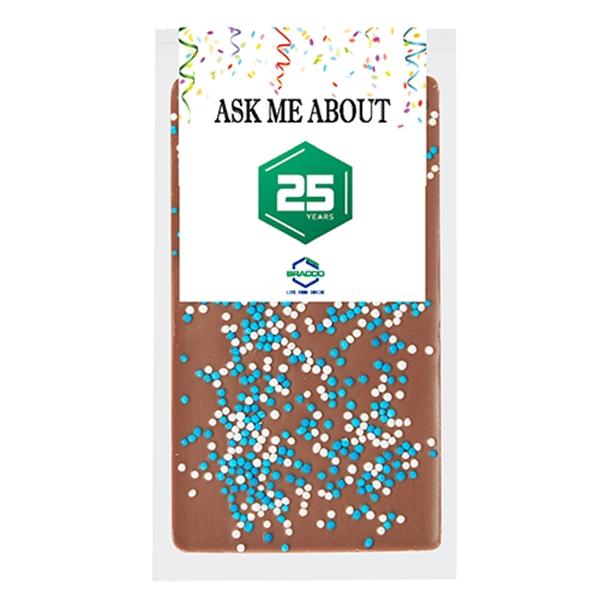 Belgian Chocolate Bars - Nonpareil Sprinkles - 1 oz