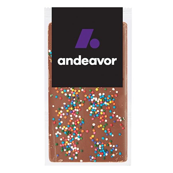Belgian Chocolate Bars - Rainbow Nonpareil Sprinkles - 1 oz