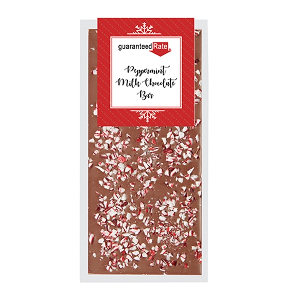 Belgian Chocolate Bars - Crushed Peppermint - 3.5 oz