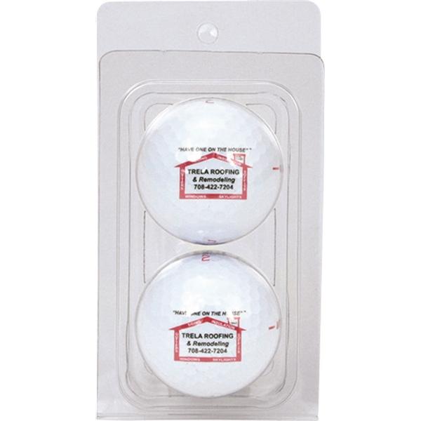 2 Golf Ball Clamshell