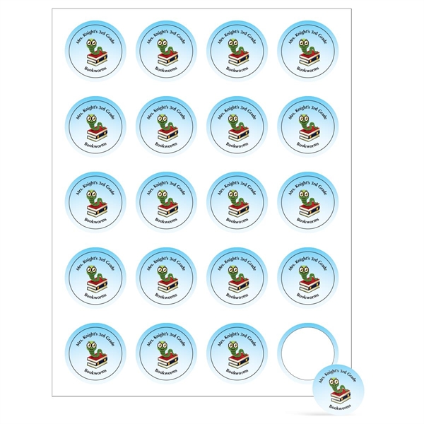 "Round Sheeted Button Sticker Labels (1 1/2"" Diameter)"