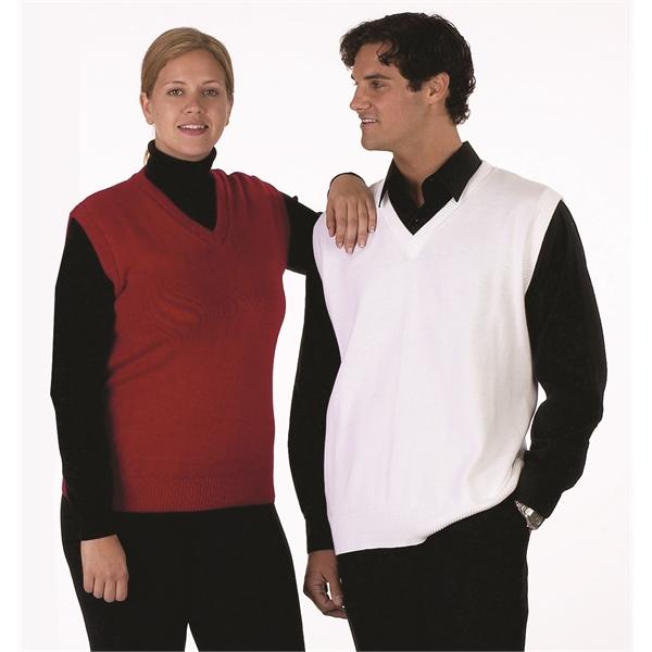 Classic V-neck Vest, unisex. Made in USA