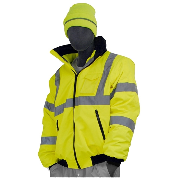 Majestic® High Visibility Waterproof Jacket with Liner