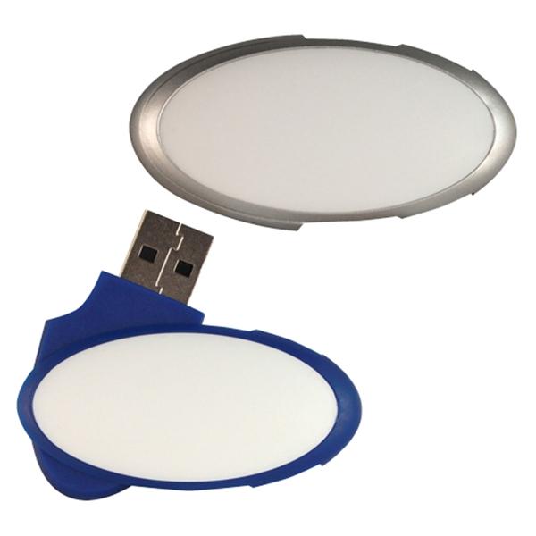 Oval Swivel Flash Drive