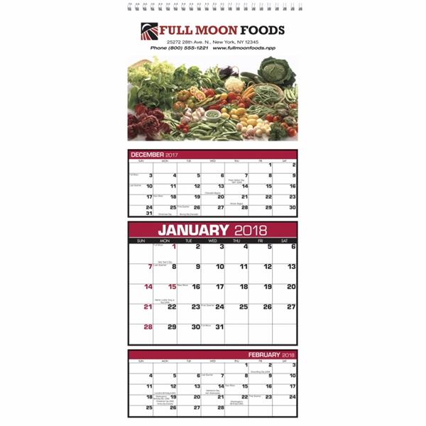 Custom 3-Month View 2020 Calendar