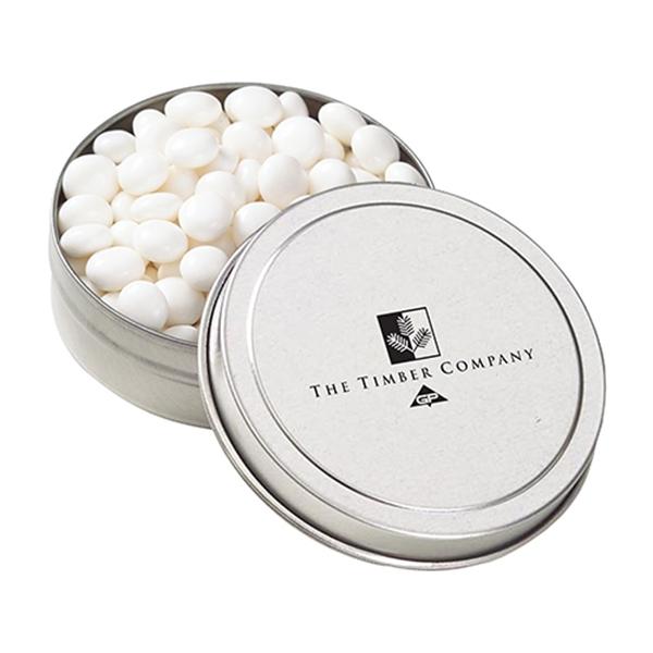 Small Round Tin / White Mints
