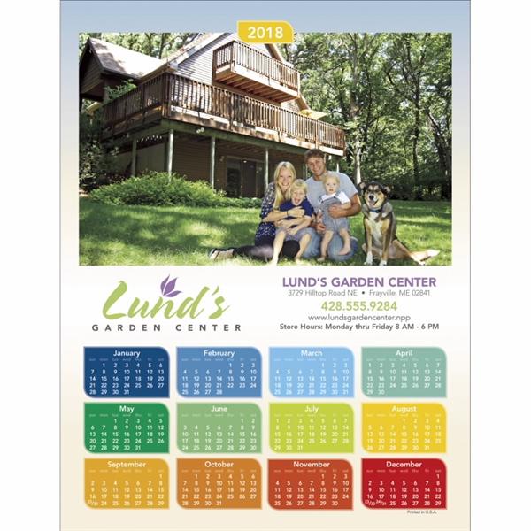 Colorful Design Span-a-Year 2020 Calendar