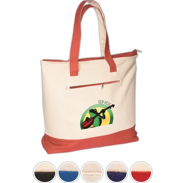 Eco-Responsible™ Zippered Cotton Boat Tote