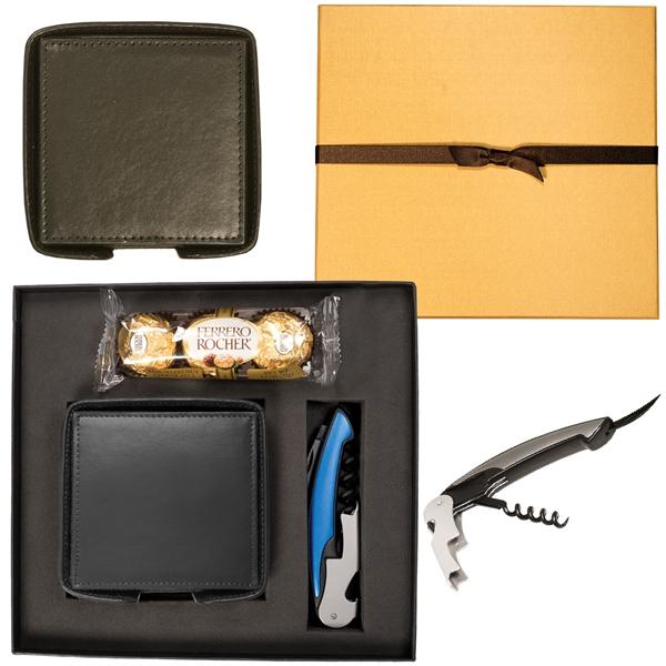 Ferrero Rocher Chocolates, Coasters & Corkscrew Gift Set
