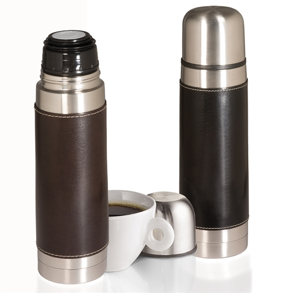 Empire™ Leather-Wrapped Thermos