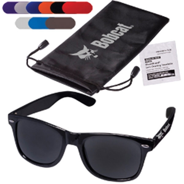 Fashion Sunglasses & Lens Cleaning Wipes in a Pouch