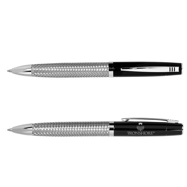 Twist Action Ballpoint Pen w/ Woven Steel Barrel
