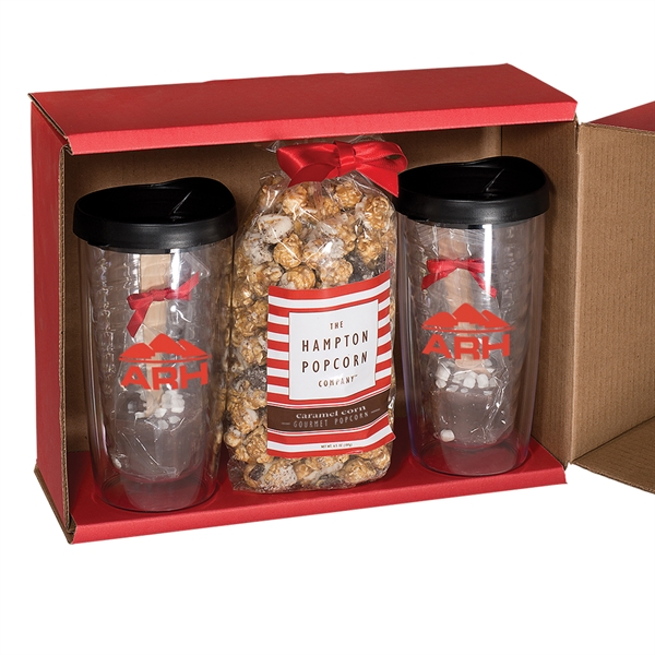 Avalon Clear Tumbler Set/Caramel Popcorn & Hot Chocolate