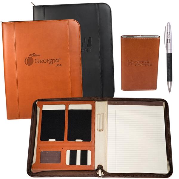 Tuscany™ Mobile Padfolio Power Bank and Pen Set