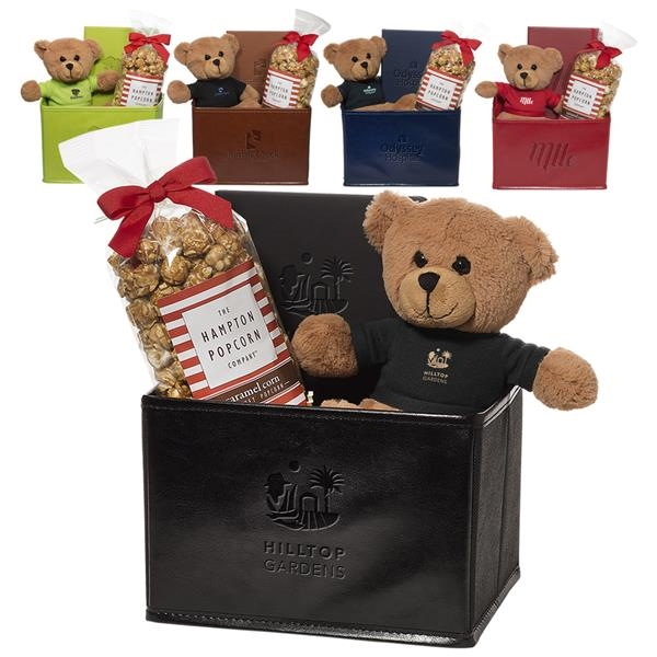 Tuscany Notebook, Teddy Bear & Popcorn Set